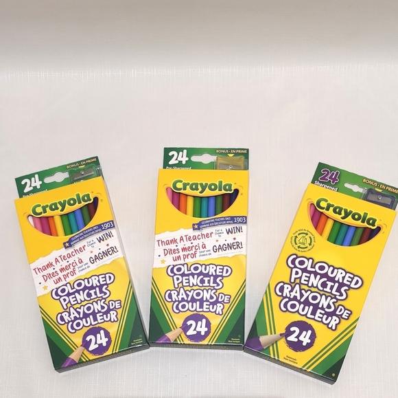 set of 3 box crayola colored pencils